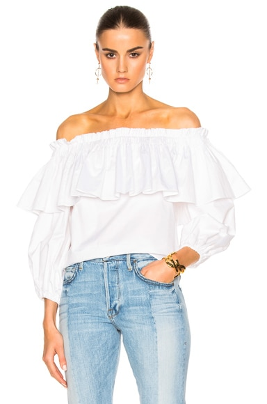 Alexis Barbie Top in White