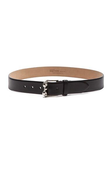 Alexander McQueen Leather Belt in Black