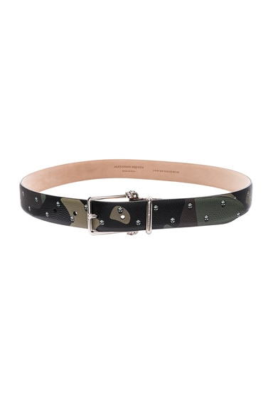 Alexander McQueen Buckle Skull Belt in Multi