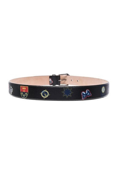 Double Buckle Skull Belt