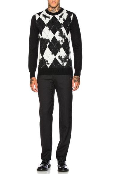 Worn Away Argyle Sweater