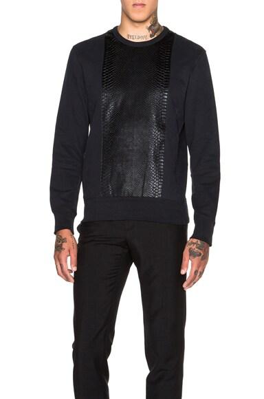 Alexander McQueen Paneled Sweatshirt in Black