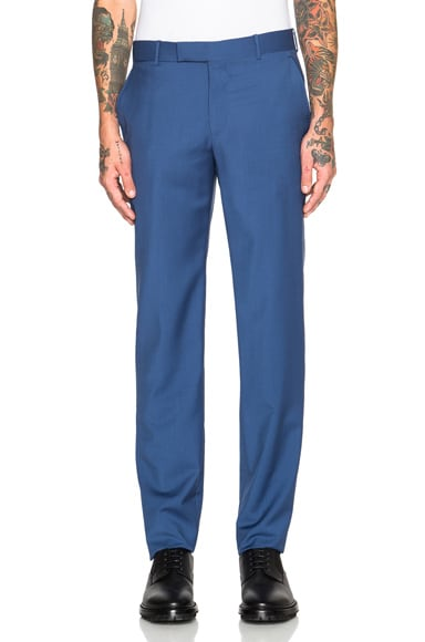 Alexander McQueen Trousers in China Blue