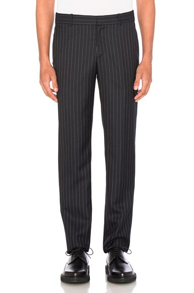 Alexander McQueen Pinstripe Trousers in Black
