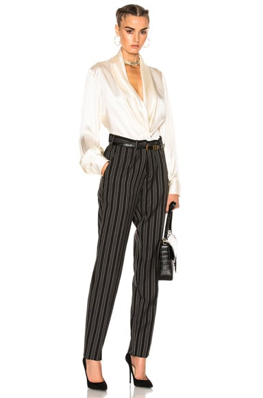 Stripe Wool Pant