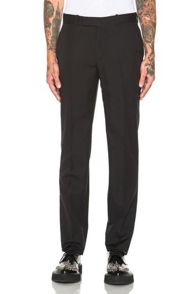 Alexander McQueen Wool Mohair Trousers in Black