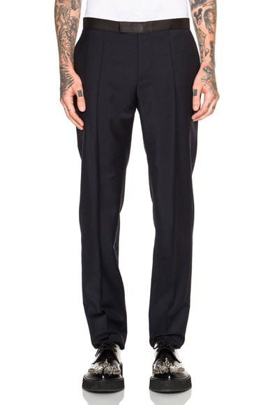 Alexander McQueen Suiting Trousers in Navy Blue