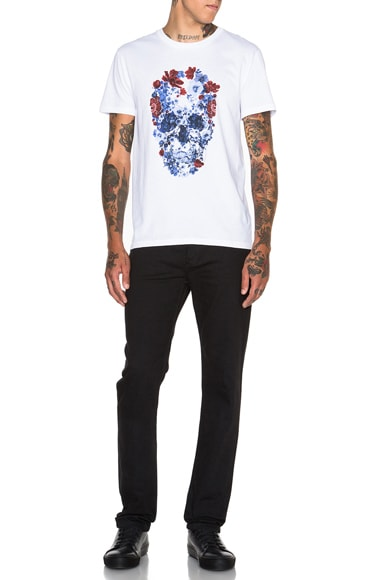 Floral Skull Graphic Tee