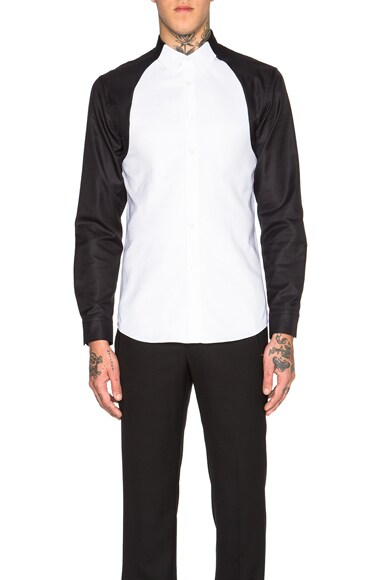 Alexander McQueen Royale Shirt in White & Black
