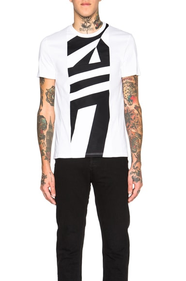 Alexander McQueen Graphic Stripe Tee in White