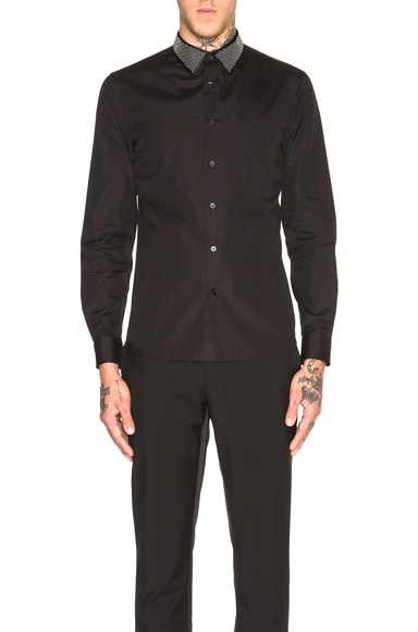 Alexander McQueen Studded Collar Shirt in Black