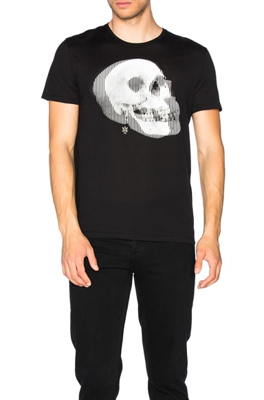 Alexander McQueen Skull Tee in Black & Cream