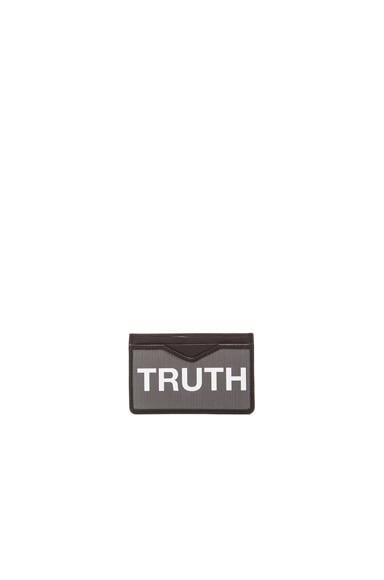 Alexander McQueen Truth Card Holder in Black & Grey