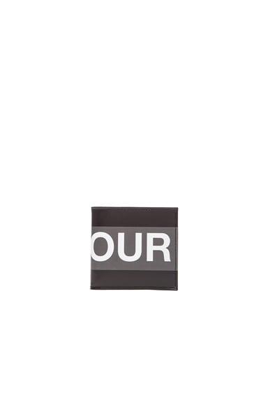 Alexander McQueen Honour Billfold in Black & Grey