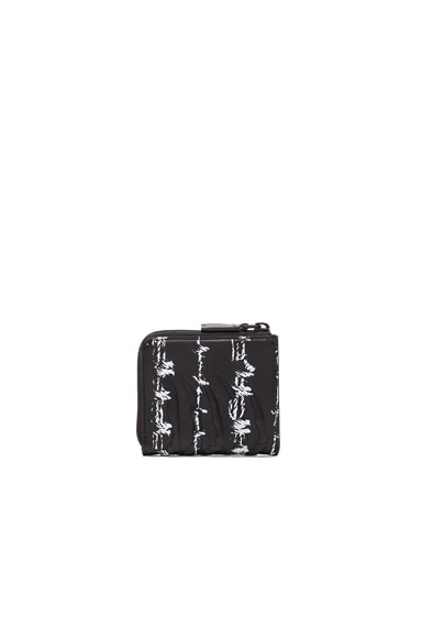 Barb Wire Print Rib Cage Zip Wallet