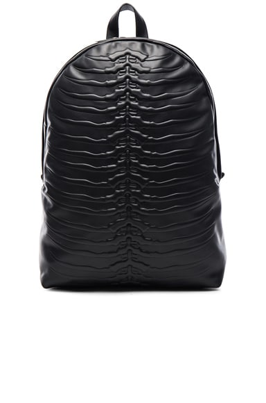 Alexander McQueen Rib Cage Backpack in Black