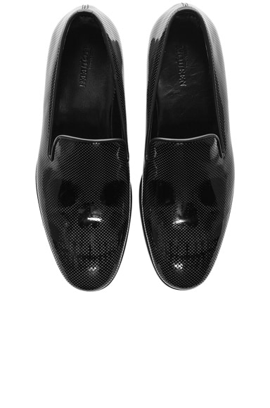 Alexander McQueen Skull Patent Leather Loafers in Black