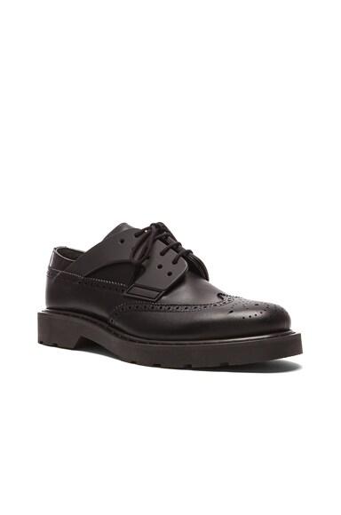Alexander McQueen Leather Harness Dress Shoe in Black