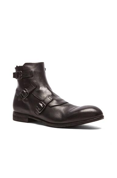 Alexander McQueen Triple Buckle Boot in Black