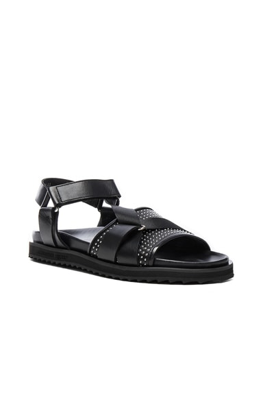 Alexander McQueen Studded Leather Sandals in Black
