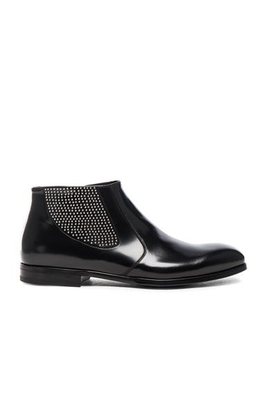 Studded Chelsea Leather Boots