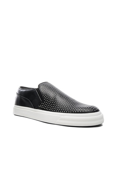 Alexander McQueen Studded Leather Slip Ons in Black