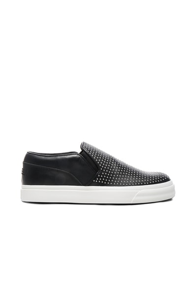 Studded Leather Slip Ons