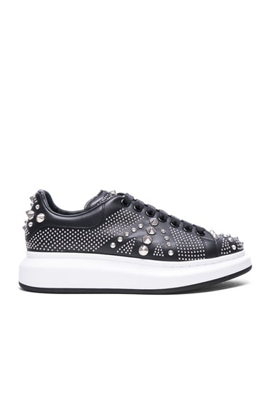 Studded Union Jack Larry Leather Sneakers