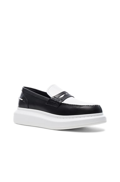 Alexander McQueen Platform Loafers in Black & White