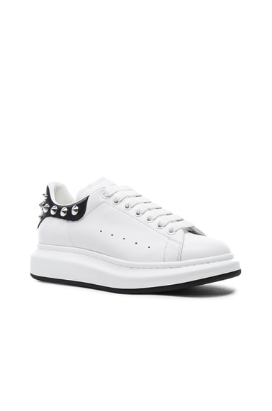 Alexander McQueen Studded Platform Sneakers in Black & White