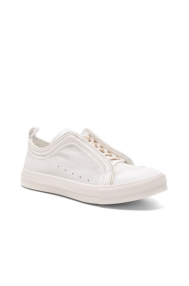 Alexander McQueen Suede Sneakers in Milk & White