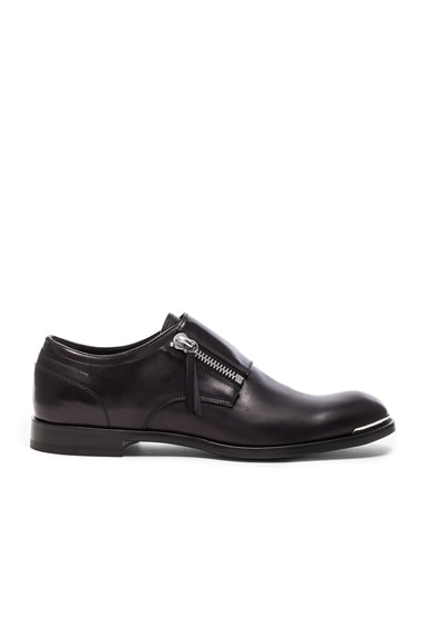 Zip Leather Dress Shoes