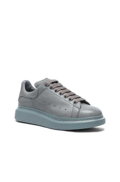 Alexander McQueen Leather Platform Sneakers in Sugar Paper