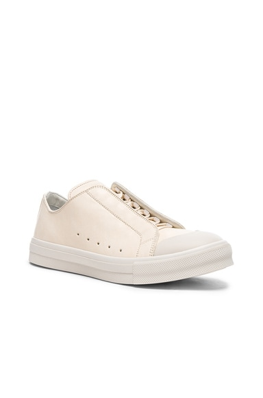 Alexander McQueen Low Top Sneakers in Ivory & White