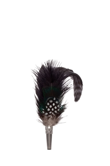 Long Feather Brooch