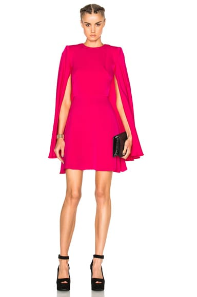 Alexander McQueen Mini Dress in Shocking Pink