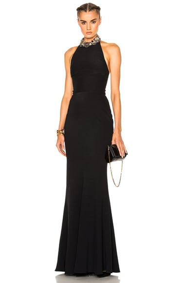Alexander McQueen Halter Gown in Black