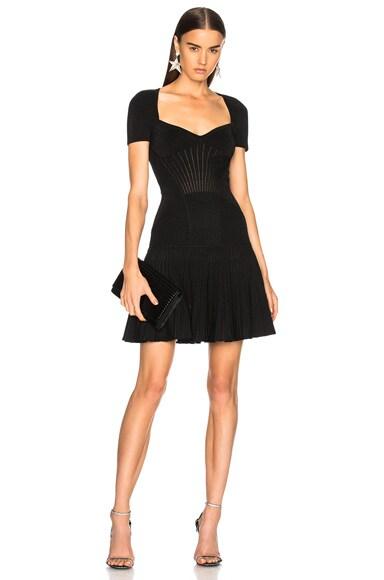 Metallic Armor Knit Mini Dress