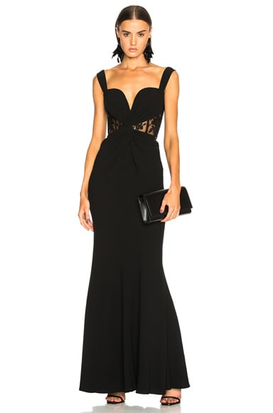 Sleeveless Bustier Gown
