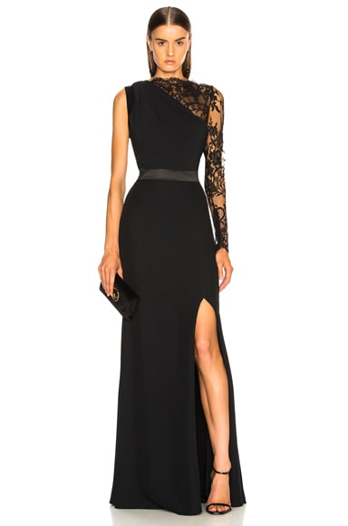Lace One Sleeve Gown