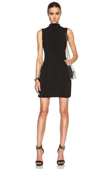 Alexander McQueen Sleeveless Knit Mini Dress in Black