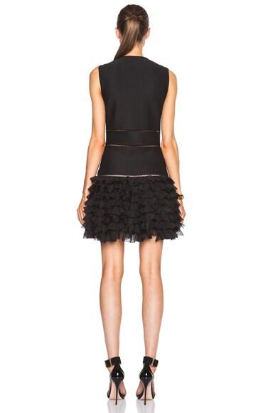 Sleeveless Mini Dress with Ruffle Skirt