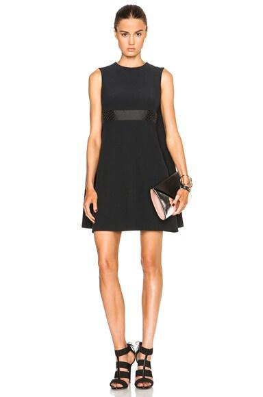 Alexander McQueen Cape Back Mini Dress in Black