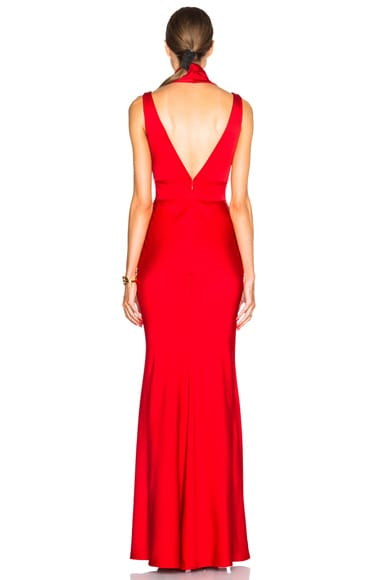 Satin Back Gown