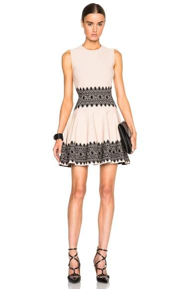 Alexander McQueen Mini Dress in Black & Teint