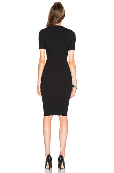 Cut Out Neck Pencil Dress