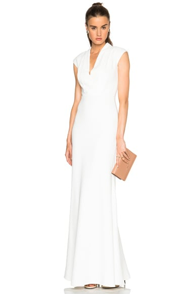 Alexander McQueen Large Double Lapel Gown in Ivory