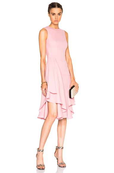 Alexander McQueen Drape Pencil Dress in Foxglove