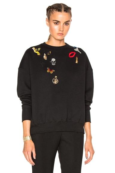 Alexander McQueen Obsess Sweatshirt in Black