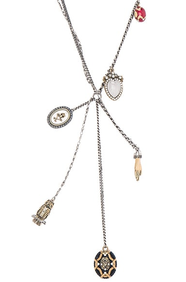 Alexander McQueen Charm Necklace in Multi